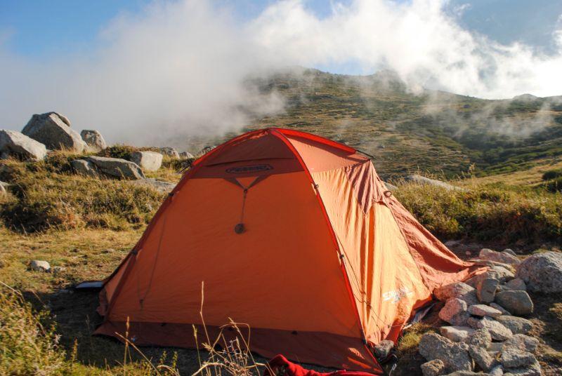 trekking corsica: gr20 in tenda