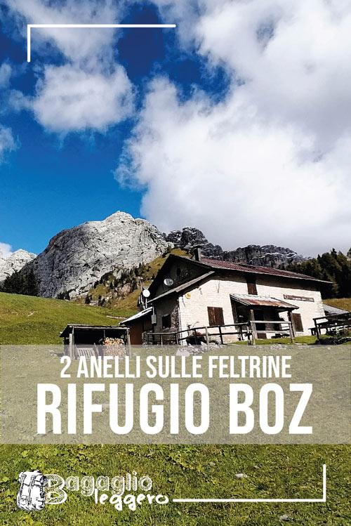 2 anelli sull Feltrine passando per il rifugio Bruno Boz pin