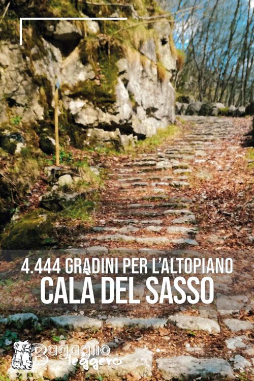 Calà del Sasso e i 444 gradini per l'Altopiano di Asiago pin