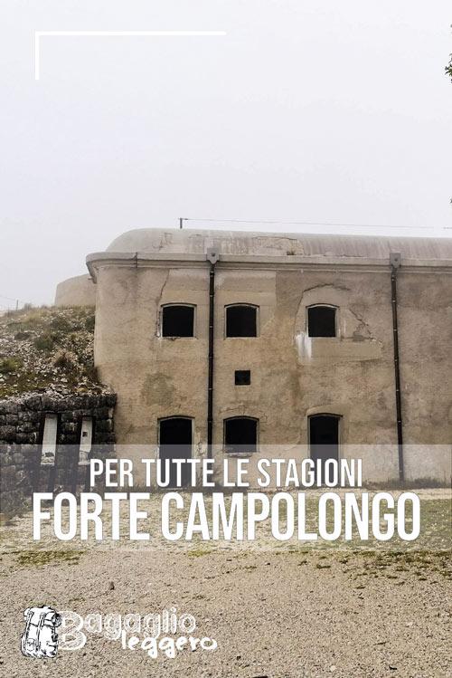 Forte Campolongo: una camminata per tutte le stagioni pin