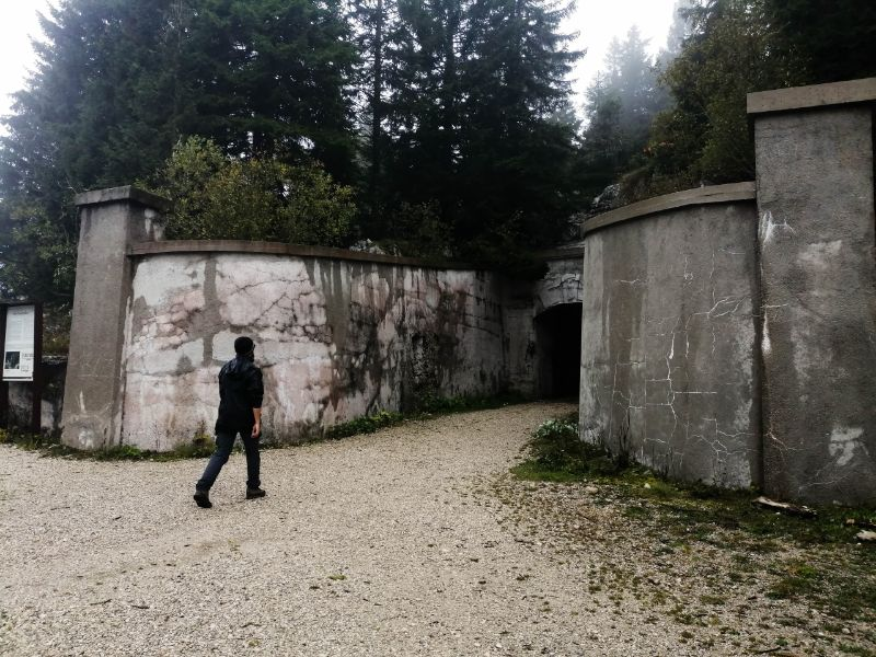 ingresso del forte campolongo