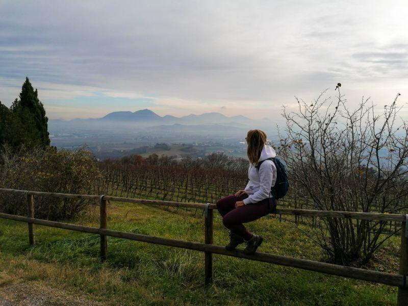 Silvia e il panorama dei Colli Berici