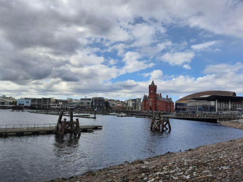 La baia di Cardiff