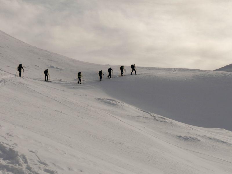la sicurezza durante lo scialpinismo