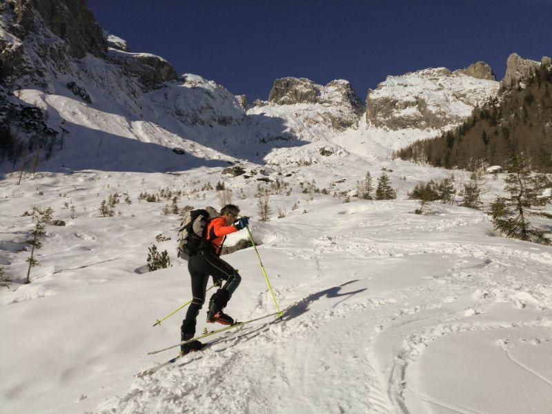 Alessandro e le svolte di scialpinismo