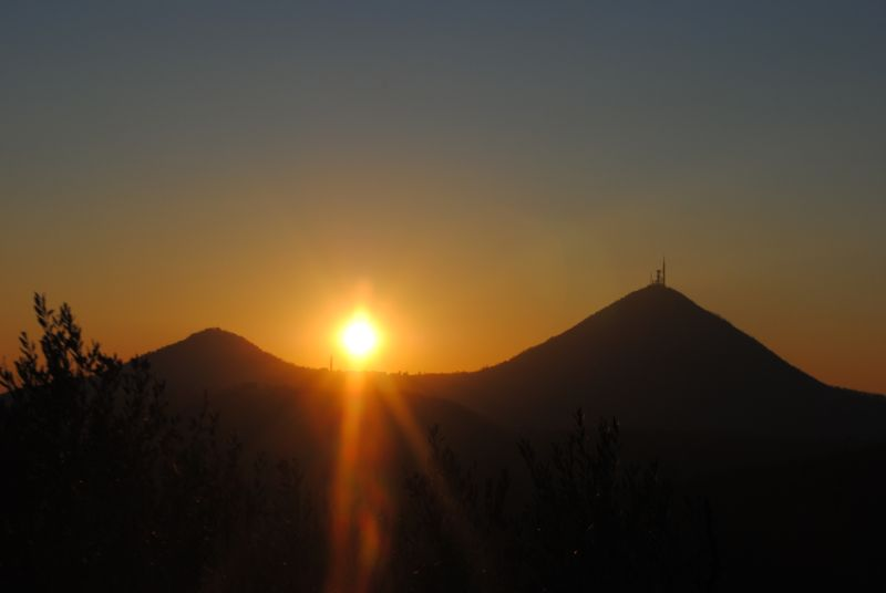 tramonto lungo il sentiero Atestino sopra Arquà Petrarca