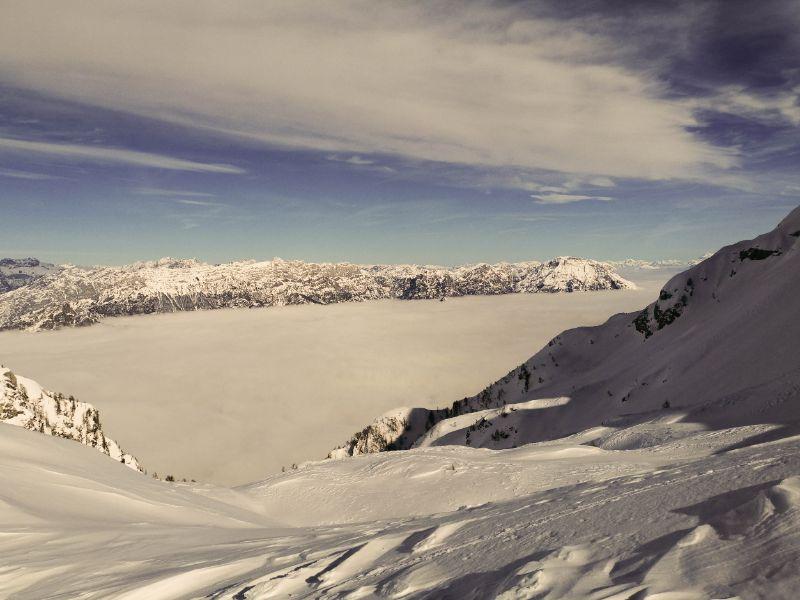 ciaspolata e scialpinismo a Cima Valgrande