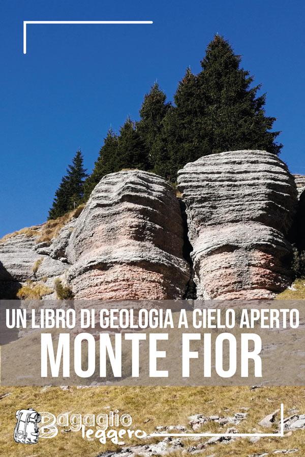 Monte Fior, il libro di geologia a cielo aperto in Altopiano pin
